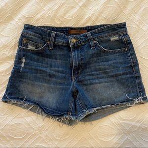 Joe's Jeans Distressed Denim Shorts Sz 27